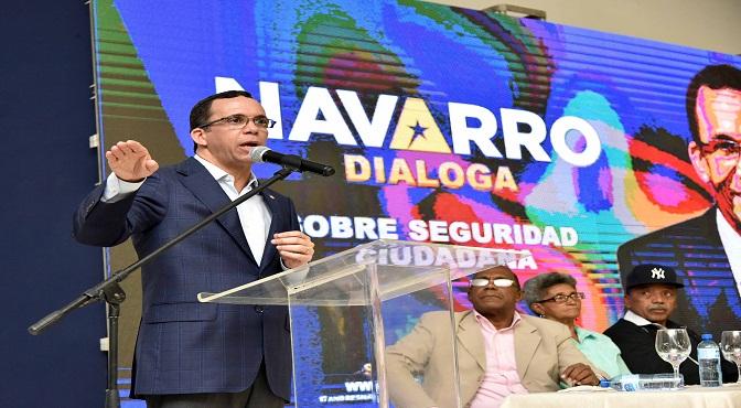 Andrés Navarro propone pacto nacional por la seguridad ciudadana
