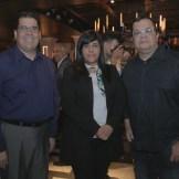 José Luis Ravelo, Madeline Martínez y Rafael Fernández.
