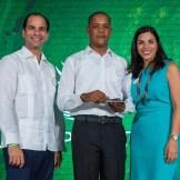 Frank Elías Rainieri, Wellington Ortiz del departamento de seguridad y Francesca Rainieri
