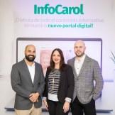 Carlos Gomez, Joan Landolfi y Raúl Peña.