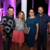 Andrés Vanderhorst, Elka Scheker, Denisse Español y Carlo Graciano