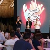 Carlos Sánchez, Karim González y Antonio Sanint