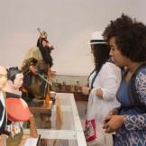 La entrada a la exhibición de muñecas japonesas en el Centro Cultural Banreservas es abierta al público.