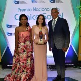 Dileny Evangelista, Martha Queliz y Fidel López