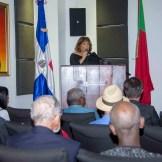 La pianista dominicana María de Fátima Geraldes durante su conferencia