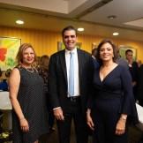 Clara Peguero, Leandro Sebele y Jinny Alba.
