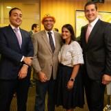 Carlo Sarubbi, Marcos De León, Pamela González y John Llano.