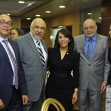 Víctor Bautista, Ruddy González, Mildred Minaya, Nelson Rodríguez y Amelia Prota