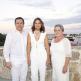 Raymundo Morales, Cristina Lockward y Marlin Borbón.