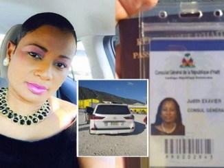 Yudith Exavier, funcionaria del Consulado de Haití en Santiago.
