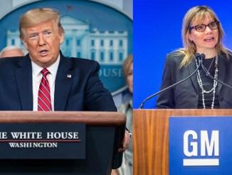 Trump y directora ejecutiva de GM, Mary Barra