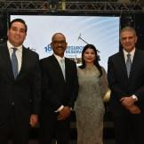 Juan Rizek, Luis Torres, Lissy Tineo Castro y Ricardo Rizek.