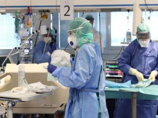 Personal sanitario del Hospital de Brescia (Italia).