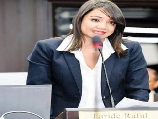 Faride Raful, senadora electa por el Distrito Nacional.