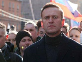 Alexei Navalny, durante una marcha opositora en Moscú