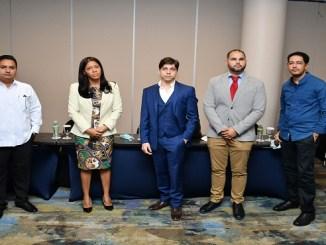 Luis Brugal, Evelin Rijo, Miguel Llenas, Juan Carlos de los Santos y Guifel Cruz
