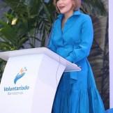 Noelia García de Pereyra, presidenta del Voluntariado Banreservas, anunció que la entidad incentivará el emprendimiento femenino, la inclusión y el medio ambiente.