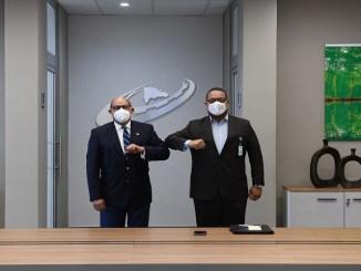 Rafael Santos Badía, director general del INFOTEP y Cristian Sánchez, director del INAP