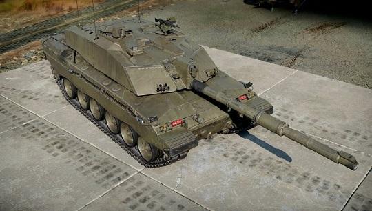 Así luce el Challenger 2 en la representación virtual del tanque en el juego War Thunder