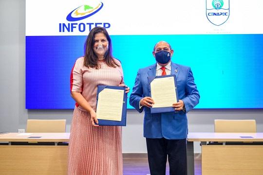 El acuerdo entre INFOTEP y CENAPEC beneficiará a los bachillers a nivel nacional