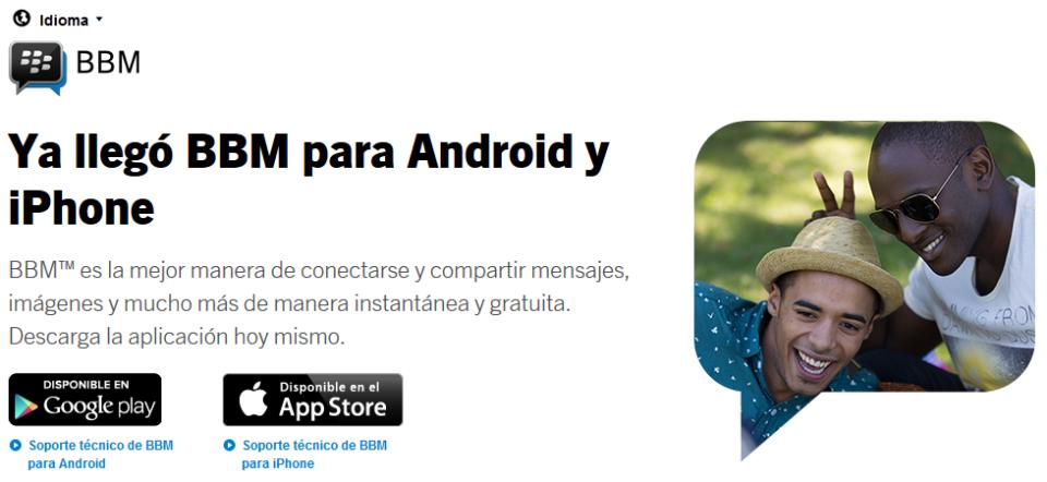 BBM Android iOS