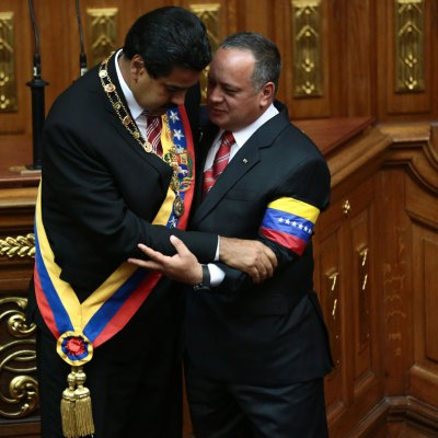 Nicolás Maduro durante su juramentación el pasado mes de enero.