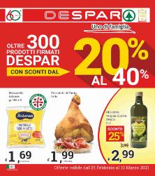 Oltre 300 prodotti Despar scontati dal 20% al 40%