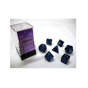 Dobbelsteen Set: Cobalt Speckled Polydice
