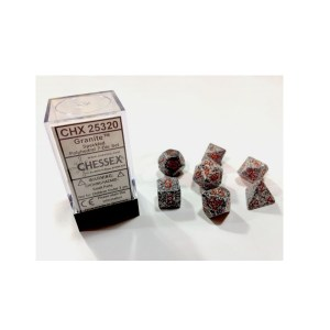 Dobbelsteen Set: Granite Speckled Polydice (7 stuks)