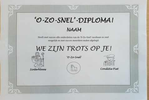 O-Zo-Snel-diploma