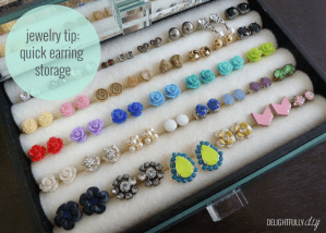 Quick Earring Storage {DIY}