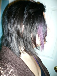 Adventures in Hair Chalking for Dark Hair {DIY and tips}