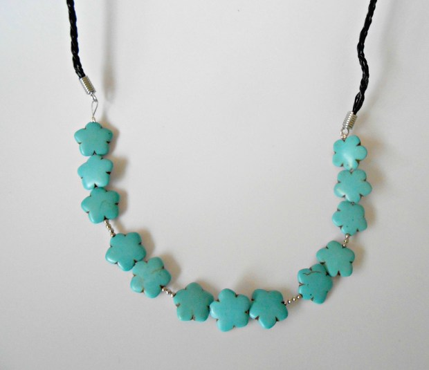 DIY Turquoise Statement Necklace