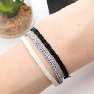 Monochrome friendship bracelet set