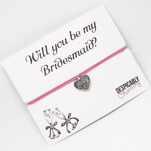 Will you be my bridesmaid - Bridesmaid Gift - Bridesmaid proposal - Friendship bracelet - Bridesmaid bracelet - Bridesmaid card