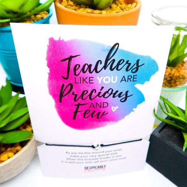 Teacher Gift Wish Bracelet