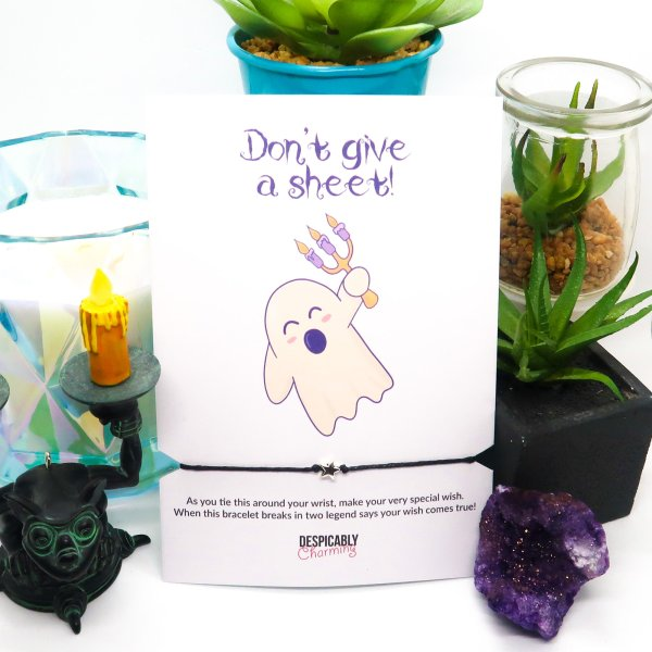 Halloween Bracelet with Don't give a Sheet Gift