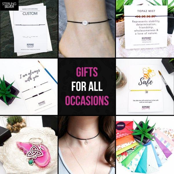 January Birthstone Wish Bracelet with Crystal Charm