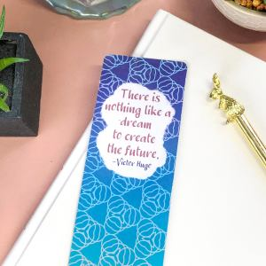 Inspirational Quote Geometric Bookmark