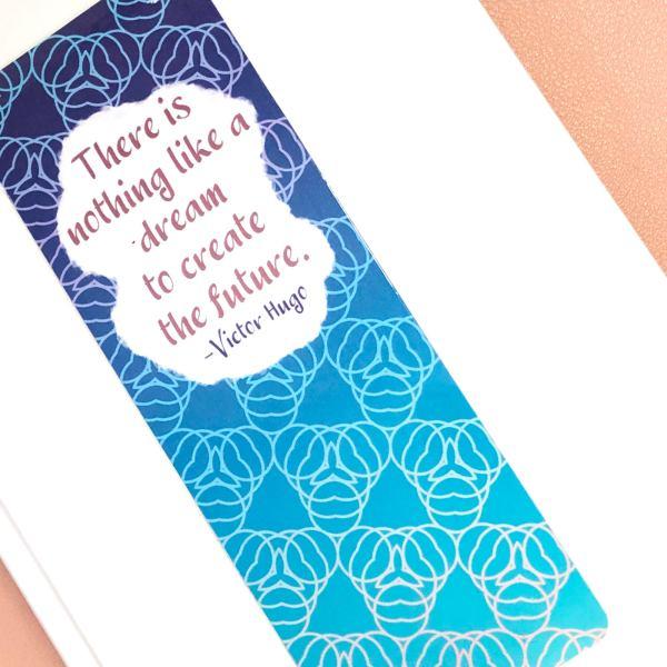 Inspirational Quote Geometric Bookmark