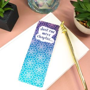 Just one more chapter geometric laminated bookmark