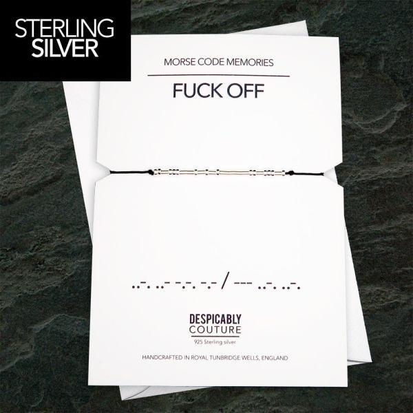 Fuck Off Morse Code Bracelet
