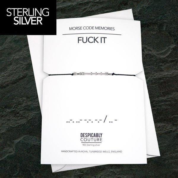 Fuck It Morse Code Bracelet