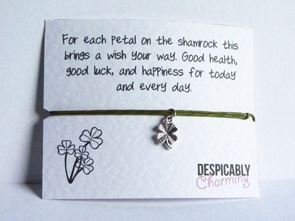 Four Leaf Clover Wish Bracelet