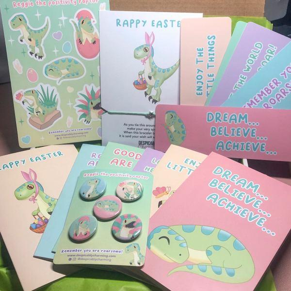 A6 BLANK Dinosaur Easter Card