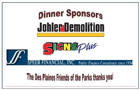 Dinner Sponsors: Brusseau Design Group, LLC, Johler Demolition, Signs Plus (provided signs and banners), Speer Financial