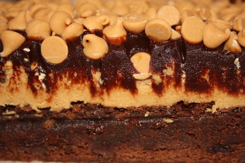 Desserts Required - Peanut Butter Cookie Dough Brownies