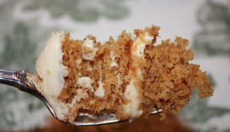 Pumpkin Cake wiht Caramel Cream Cheese Frosting is just what you need for a showstopper Thanksgiving dessert.