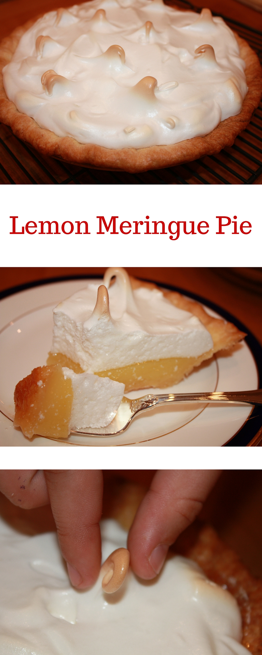 Fall in love again with this family treasure - Lemon Meringue Pie!! The meringue is like a fluffy pillow with a pucker up lemon filling and buttery crust.