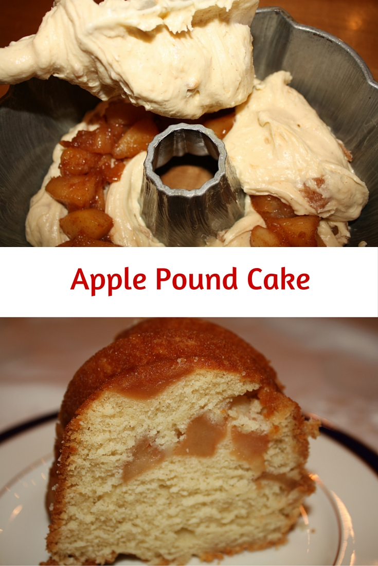 Apple Pound Cake - sauteed apples are folded into a sour cream batter to deliver a recipe sure to please your holiday crowd.